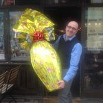 Massimo & The Giant Easter egg being raffled off in aid of The British Heart foundation