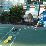 Kids loved the shuffleboard and huge swimming pool
