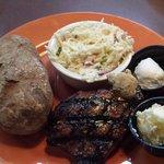 """Ale"" Steak, Cole Slaw, Baked Potato"