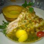 Grilled trout, acorn squash.