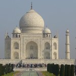 Le Taj Mahal dans toute sa splendeur.