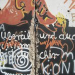Photo of a section of the Berlin Wall.