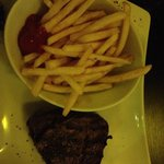 Steak and chips! (I added the ketchup myself)