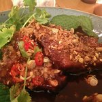 Pork rib with Thai chilli sauce. The meat just fall off from the bone. I love it so much!