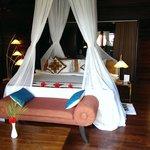 Unser Bett in der Seaview Villa