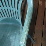 Scruffy plastic patio furniture, it was all like this