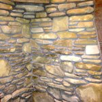 Whispering Pines stone shower