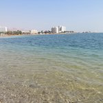 Мертвое море.Вид с нашего пляжа.