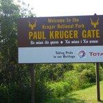 un' ingresso del parco Kruger