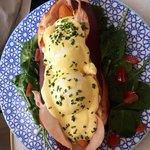 Simply put: So So Good!!!!  Eggs Benedict hot dog!