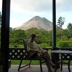 Une vue exceptionnelle sur le volcan