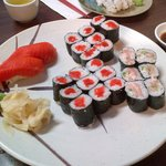 Wild salmon and negitoro roll