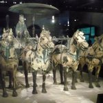 Charioteer, chariot and 4 horses