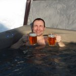 Steve in the hot tub