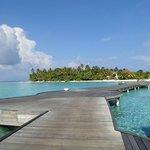 Athuruga island from water villa walkway