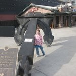 My daughter(7) by the anchor.