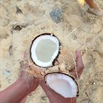 Fresh coconut juice!