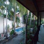 Camere al primo piano e piscina