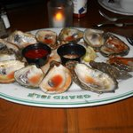 Spago's charbroiled oysters