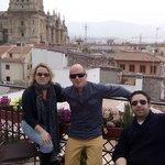 Terraza vistas a la catedral y Alhambra