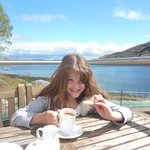 Hot chocolate and shortbread in the sun