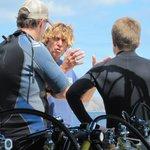 Auston preparing the divers