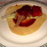 Peking Duck Pancake ready to fold and enjoy