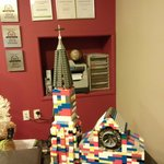 A Lego replica made by the owners son of the Church damaged in Christchurch during the Earthquak