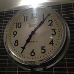 Big clock in the bathroom
