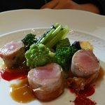 Roast suckling pig and Romanesco broccoli