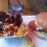 Grouper sandwich was breaded. Atmosphere was great. Service was pleasant.