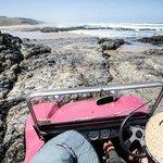 Dune buggy over rocks