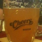 Enjoying the Cheers bar!