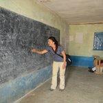 My friend teaching at the local Masai school