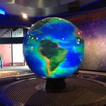This globe changed colors so you could look at each planet in detail