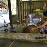 Making rice paper in family home