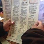 Looking at the menu.