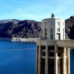 Intake tower on the Nevada side