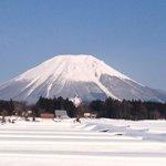 2月の大山。