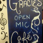 Gracie's Open-Mic Cafe every Friday 7-10pm