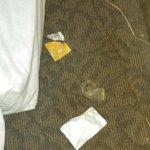 Nasty used condom under the bed! Seriously!