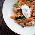 Mamma Maria's pickled carrots, goat's curd, oregano, mint