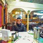 My wife Veronica at Mughal Darbar.