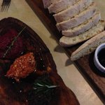 Part of the wet season special but can also be ordered. Trio of dips with bread - Beetroot, swee