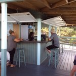 Thats me enjoying a rum and coke at Hog Haven