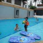 Main pool area on the lowest level which includes a baby pool. There is a pool at Villa 1 as wel