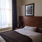 Comfy double bed at Alexander Thomson...
