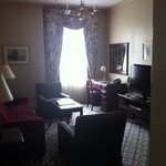 lounge room of the suite