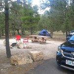 Unsere wirklich riesige Campsite