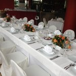 The set up for a private function.